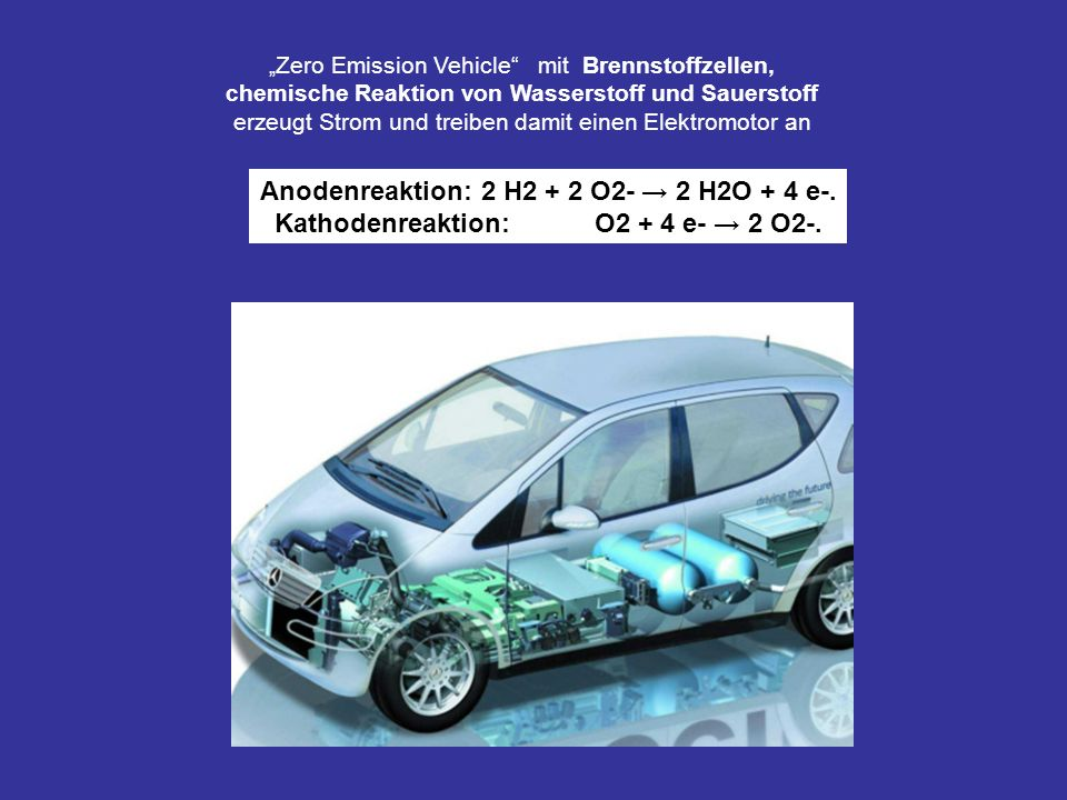 Kathodenreaktion: O2 + 4 e- → 2 O2-.