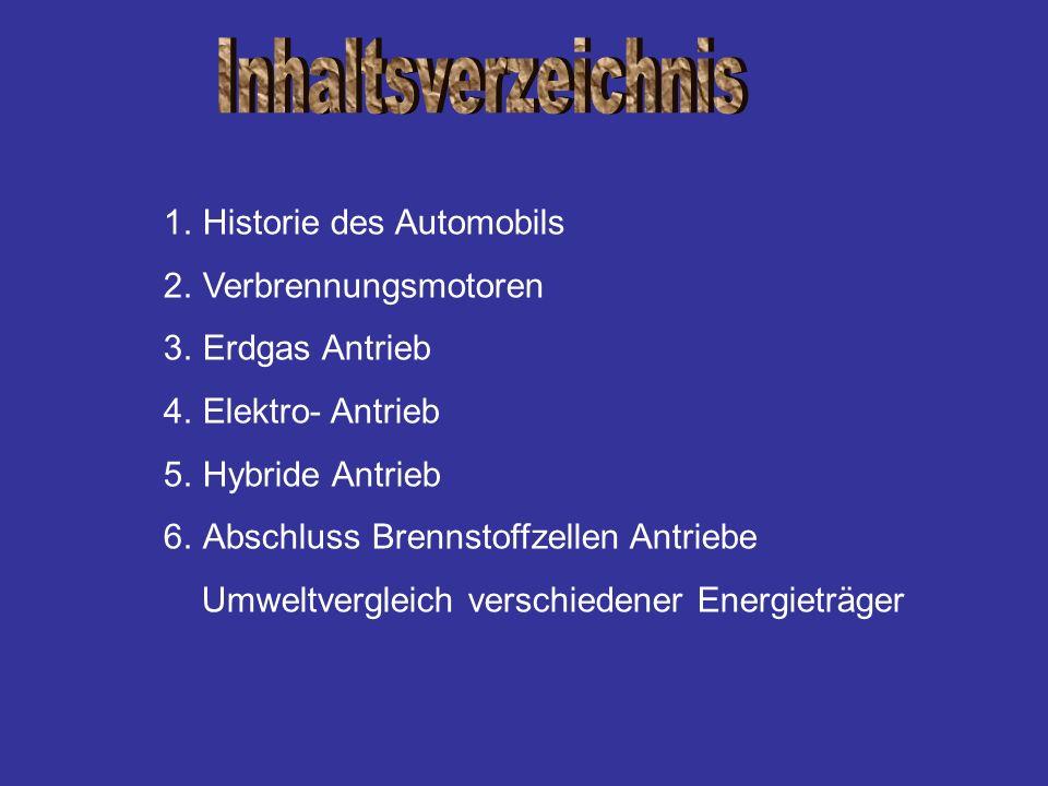 Inhaltsverzeichnis Historie des Automobils Verbrennungsmotoren