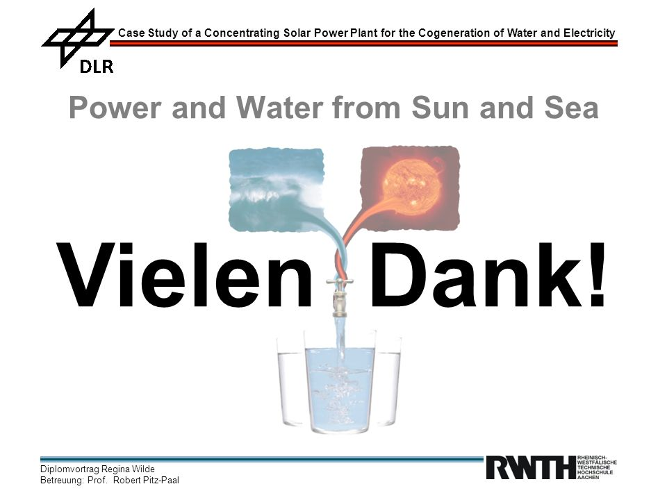 Power and Water from Sun and Sea