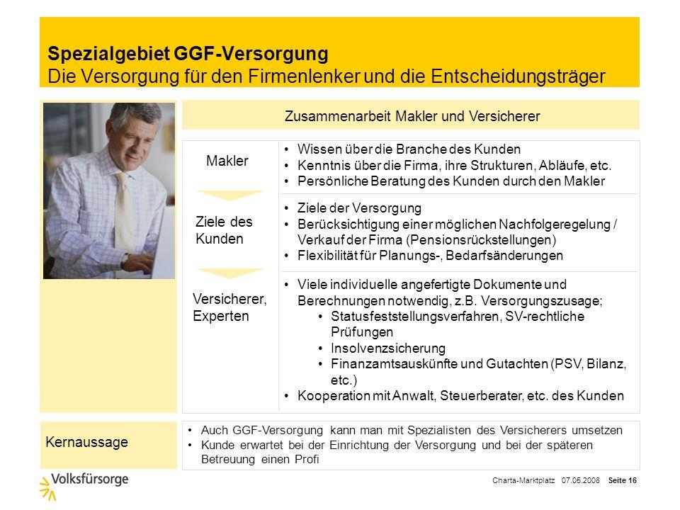 Spezialgebiet GGF-Versorgung Die Versorgung für den Firmenlenker und die Entscheidungsträger