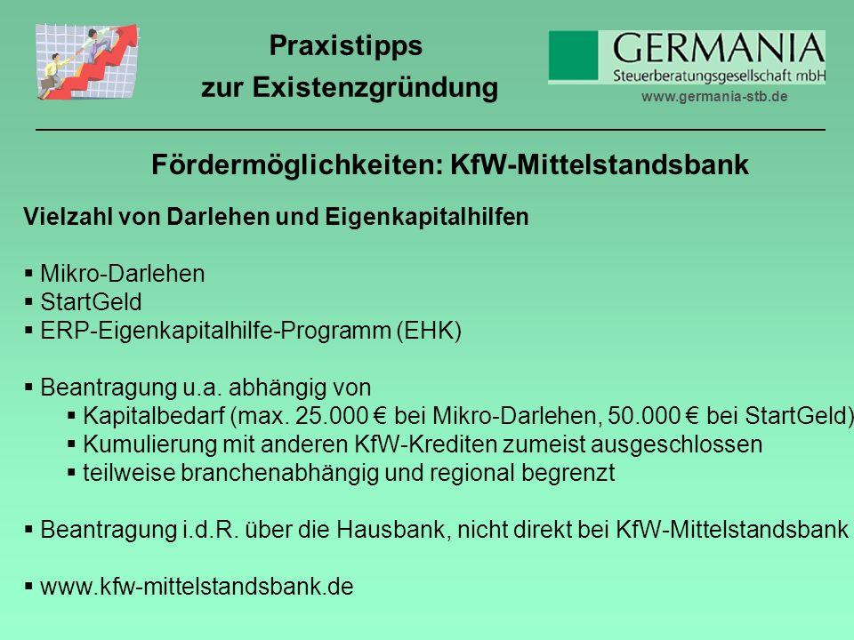 Fördermöglichkeiten: KfW-Mittelstandsbank