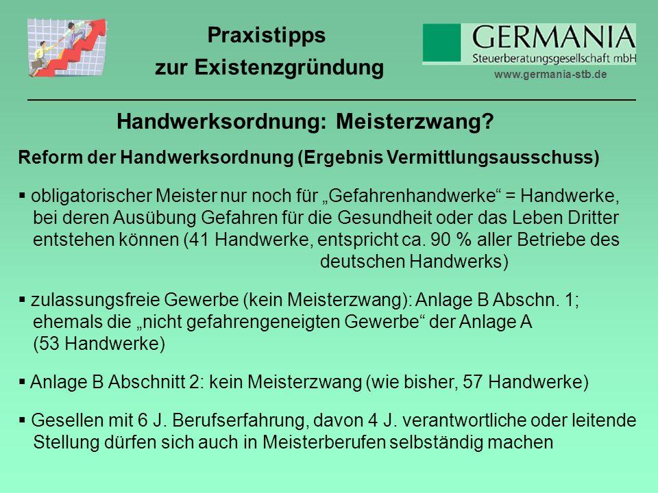 Handwerksordnung: Meisterzwang
