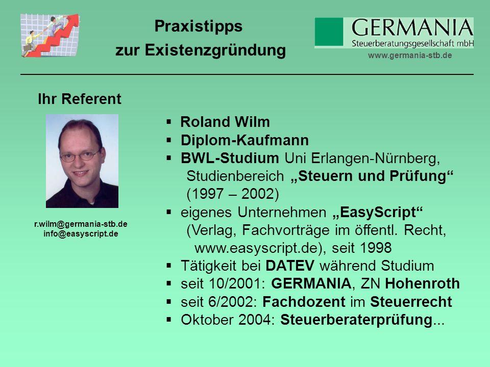 r.wilm@germania-stb.de info@easyscript.de