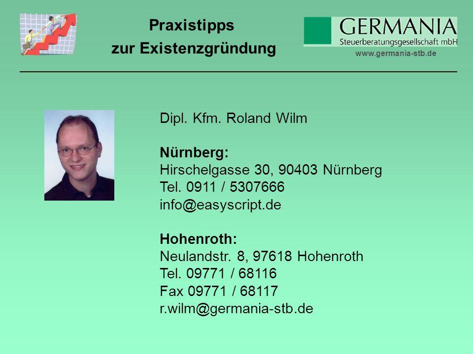 Dipl. Kfm. Roland Wilm Nürnberg: Hirschelgasse 30, 90403 Nürnberg. Tel. 0911 / 5307666. info@easyscript.de.