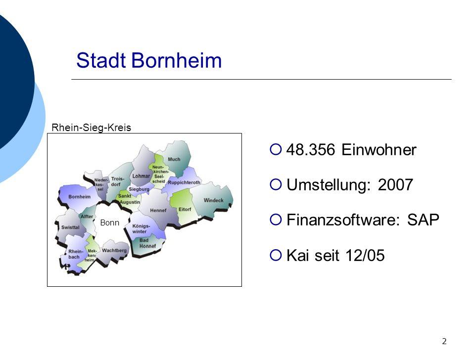 Stadt Bornheim 48.356 Einwohner Umstellung: 2007 Finanzsoftware: SAP