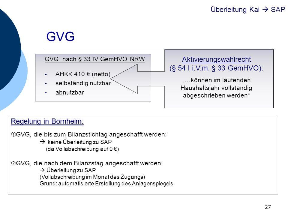 GVG Überleitung Kai  SAP