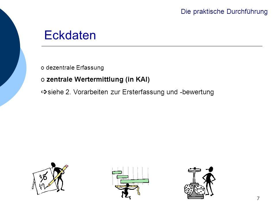 Eckdaten Die praktische Durchführung zentrale Wertermittlung (in KAI)