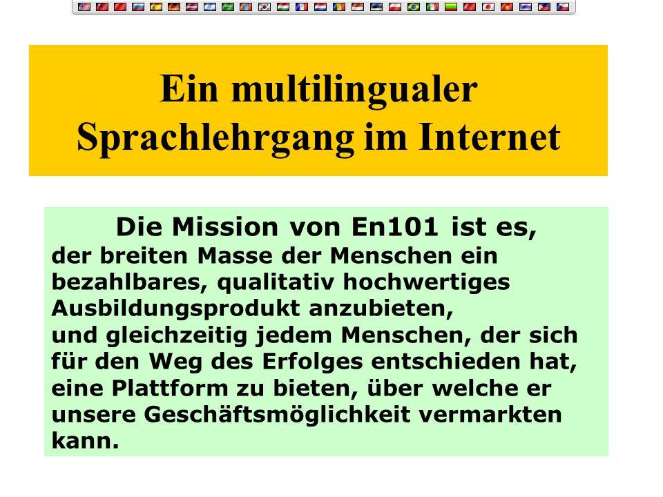 Ein multilingualer Sprachlehrgang im Internet
