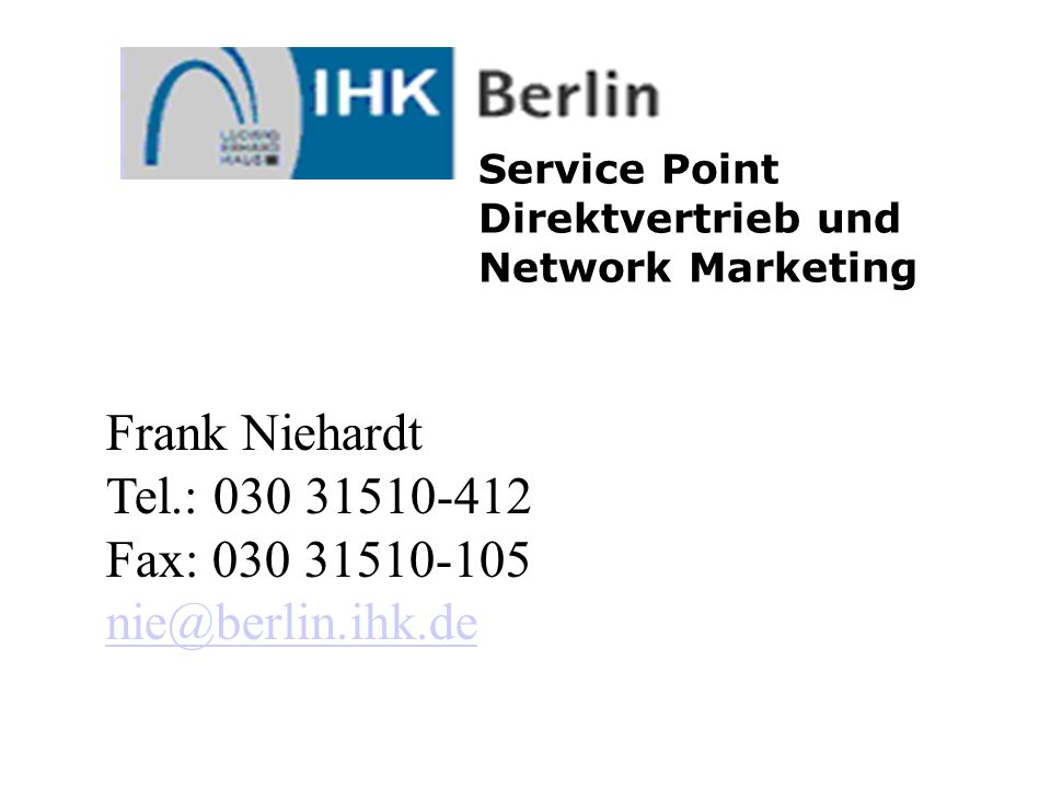 Service Point Direktvertrieb und Network Marketing