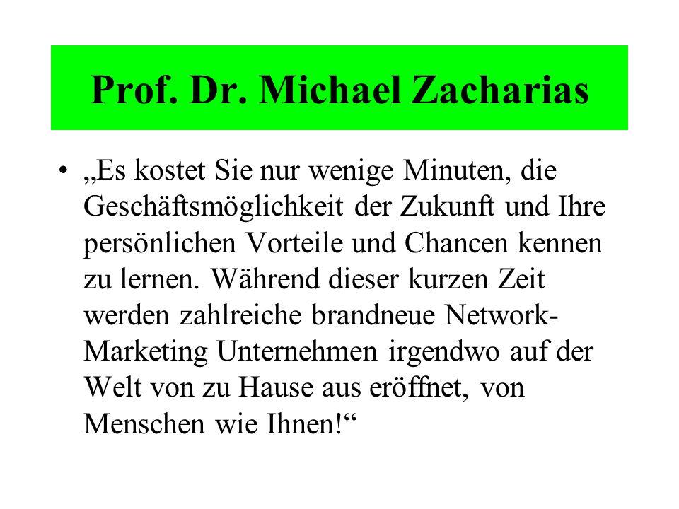 Prof. Dr. Michael Zacharias