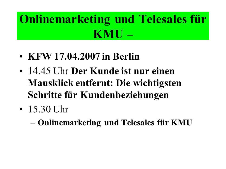Onlinemarketing und Telesales für KMU –