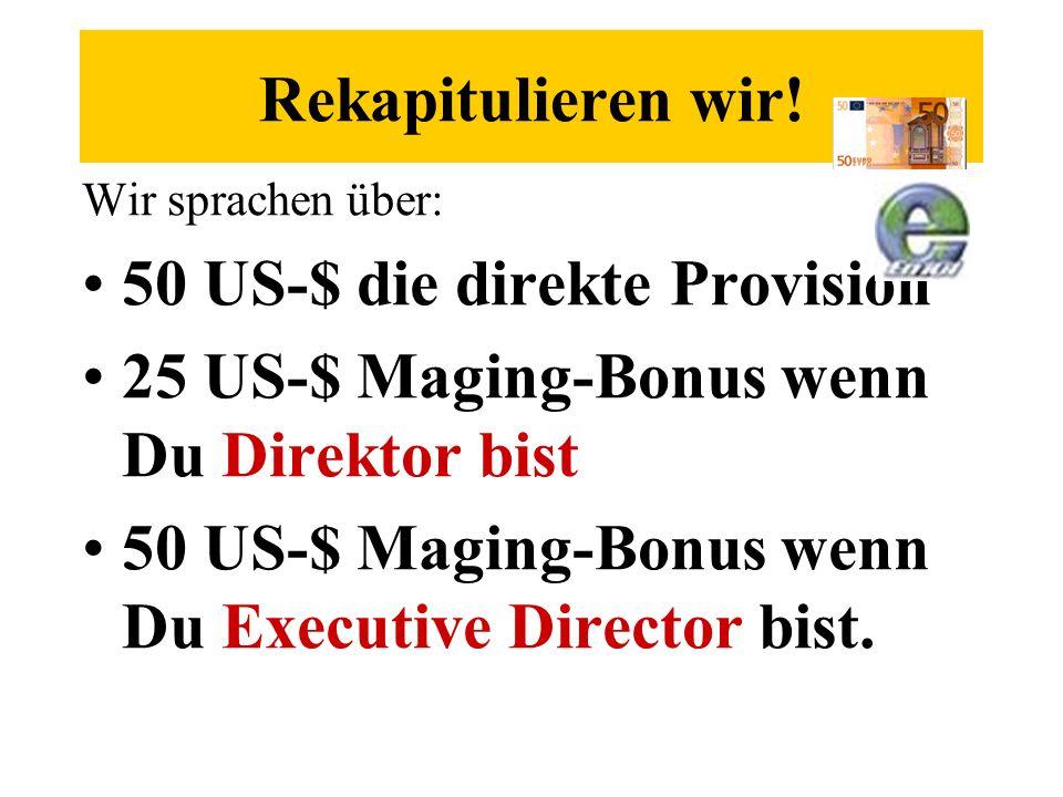 50 US-$ die direkte Provision