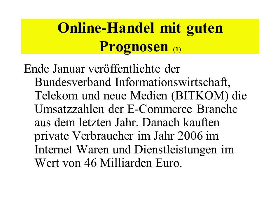Online-Handel mit guten Prognosen (1)