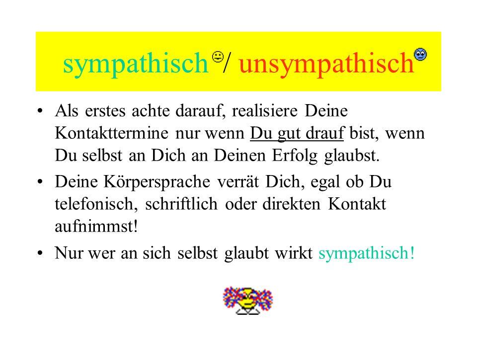 sympathisch / unsympathisch