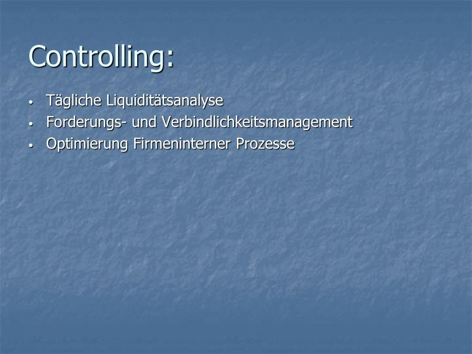 Controlling: Tägliche Liquiditätsanalyse