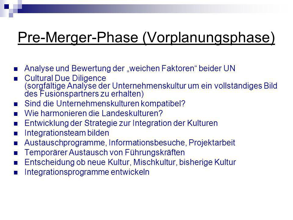 Pre-Merger-Phase (Vorplanungsphase)