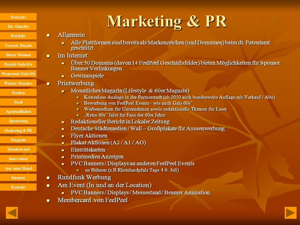 Marketing & PR Allgemein Im Internet Printwerbung Rundfunk Werbung