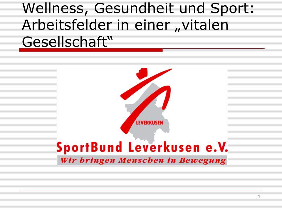"""Wellness, Gesundheit und Sport: Arbeitsfelder in einer """"vitalen Gesellschaft"""
