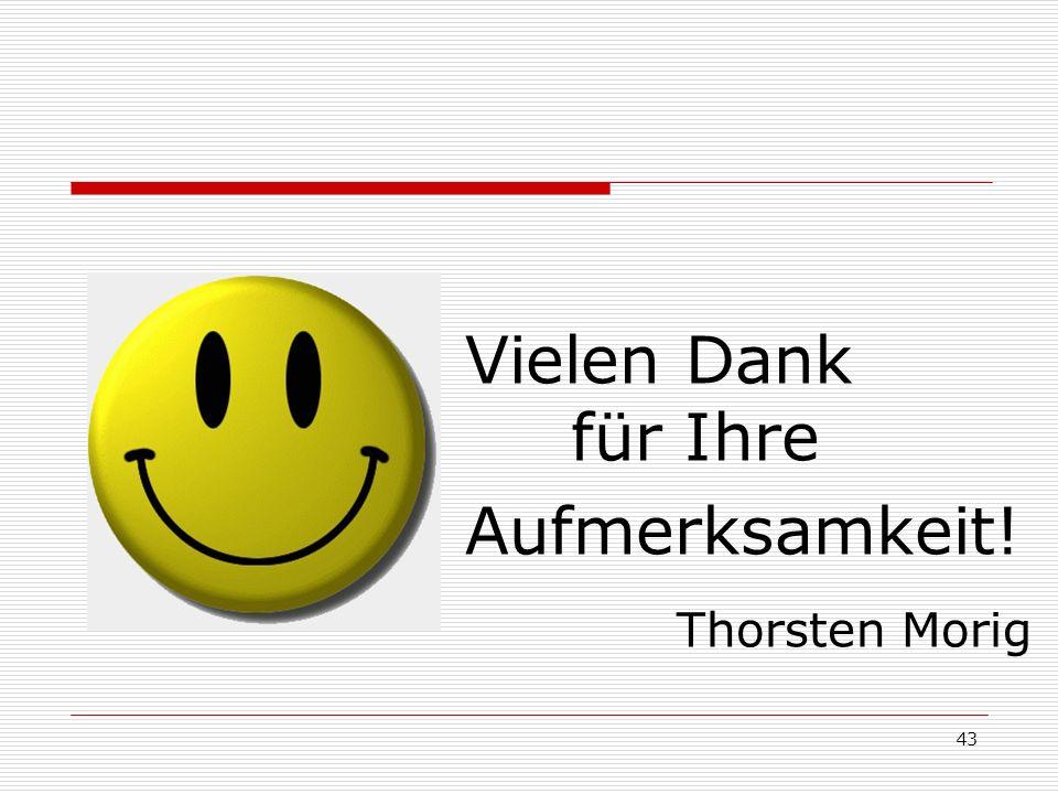 Vielen Dank für Ihre Aufmerksamkeit! Thorsten Morig