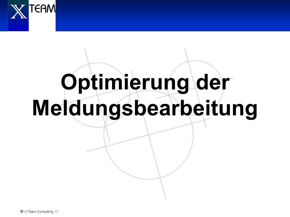 Optimierung der Meldungsbearbeitung