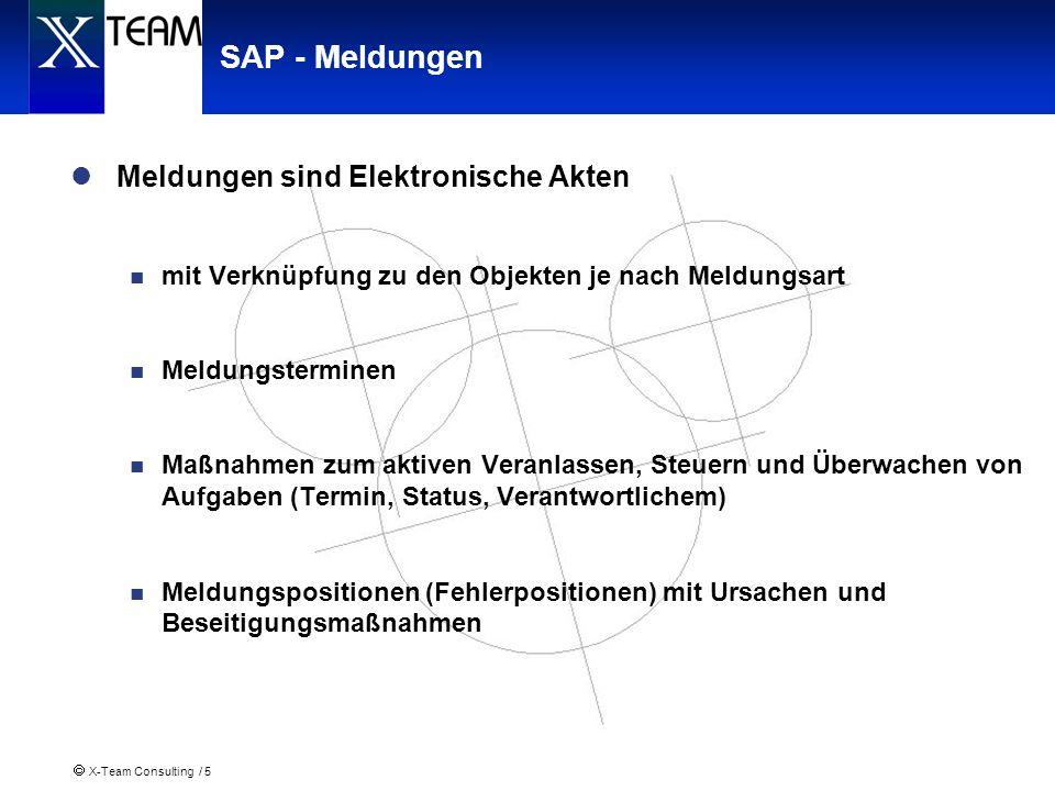 SAP - Meldungen Meldungen sind Elektronische Akten