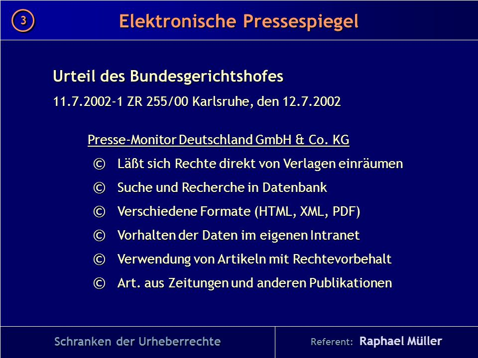 Elektronische Pressespiegel