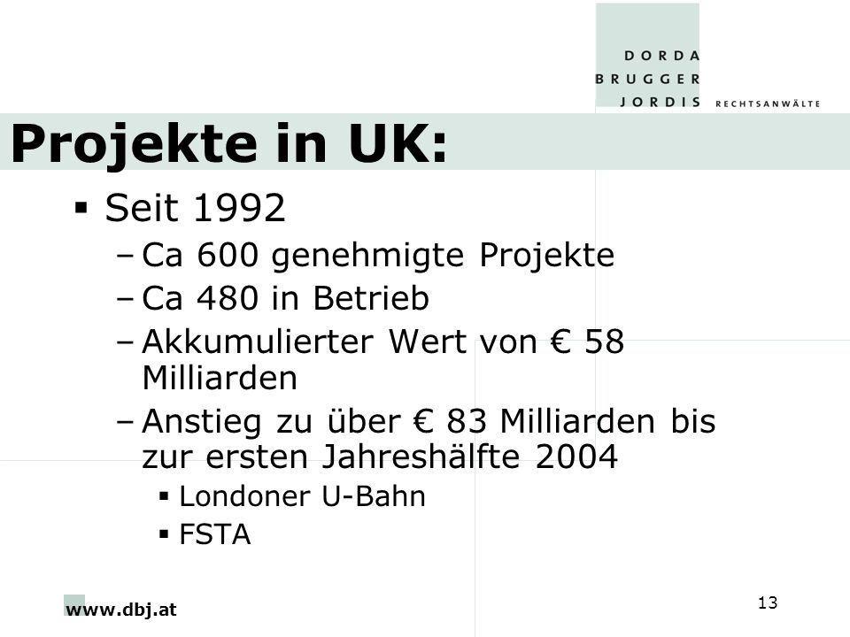 Projekte in UK: Seit 1992 Ca 600 genehmigte Projekte Ca 480 in Betrieb
