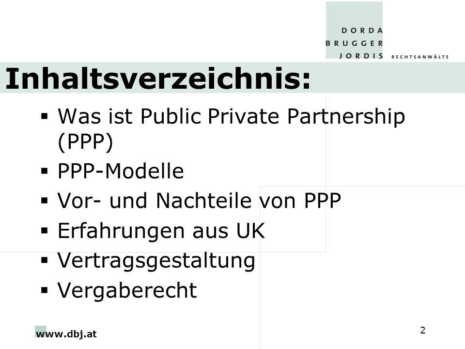 Inhaltsverzeichnis: Was ist Public Private Partnership (PPP)
