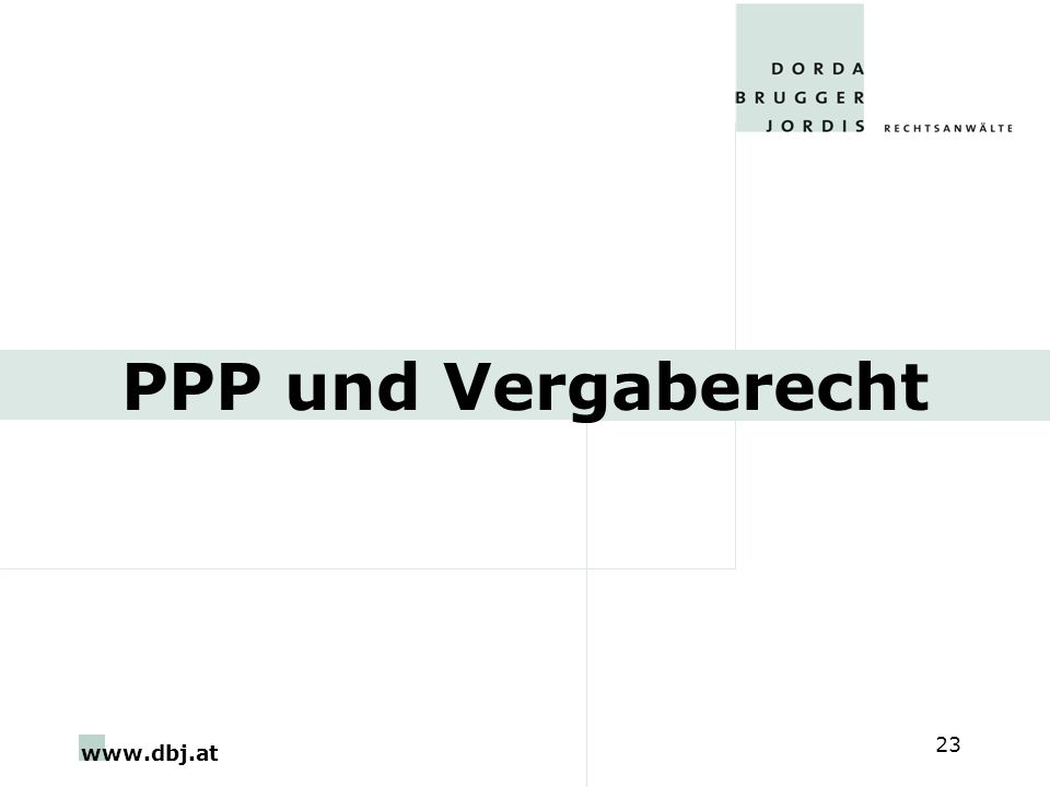 PPP und Vergaberecht (gesonderte Anbote)