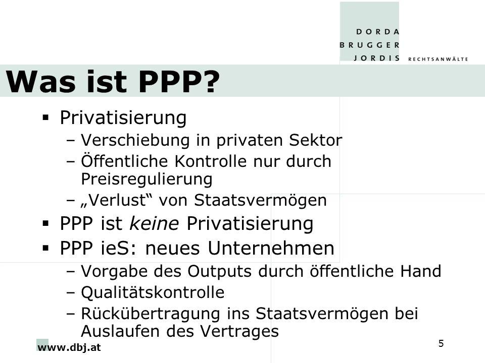 Was ist PPP Privatisierung PPP ist keine Privatisierung
