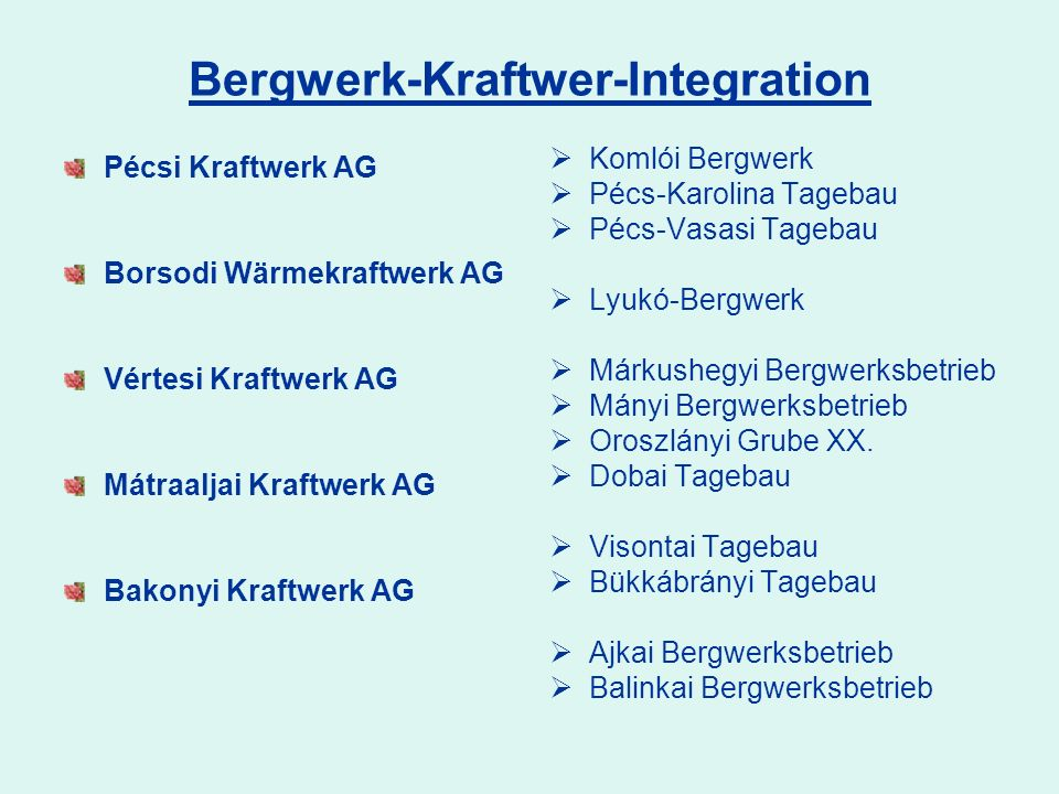 Bergwerk-Kraftwer-Integration