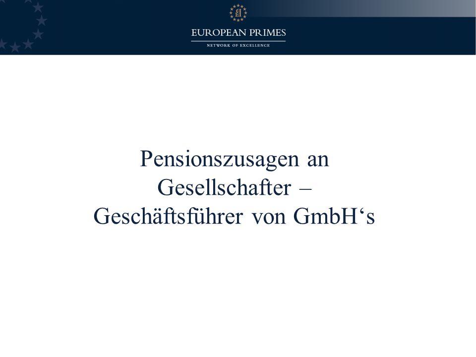 Gesellschafter – Geschäftsführer von GmbH's
