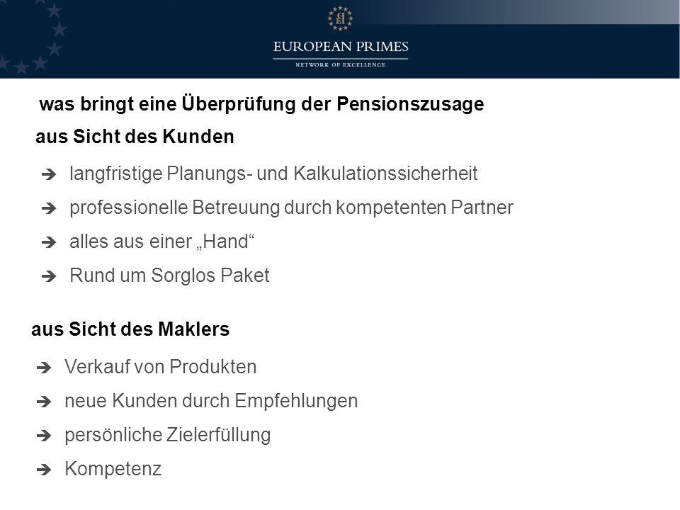was bringt eine Überprüfung der Pensionszusage