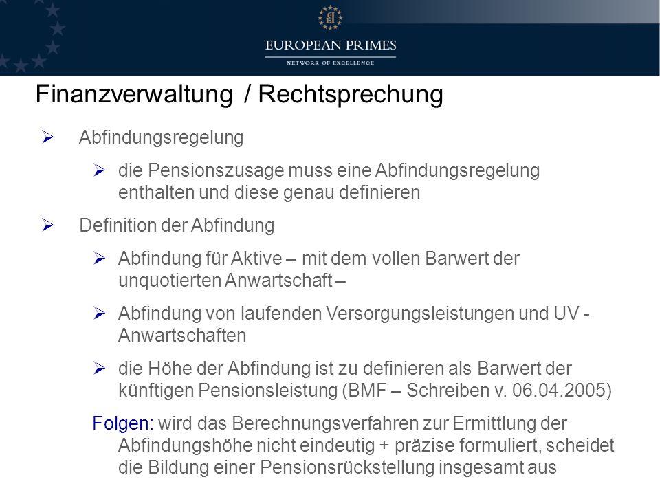 Finanzverwaltung / Rechtsprechung