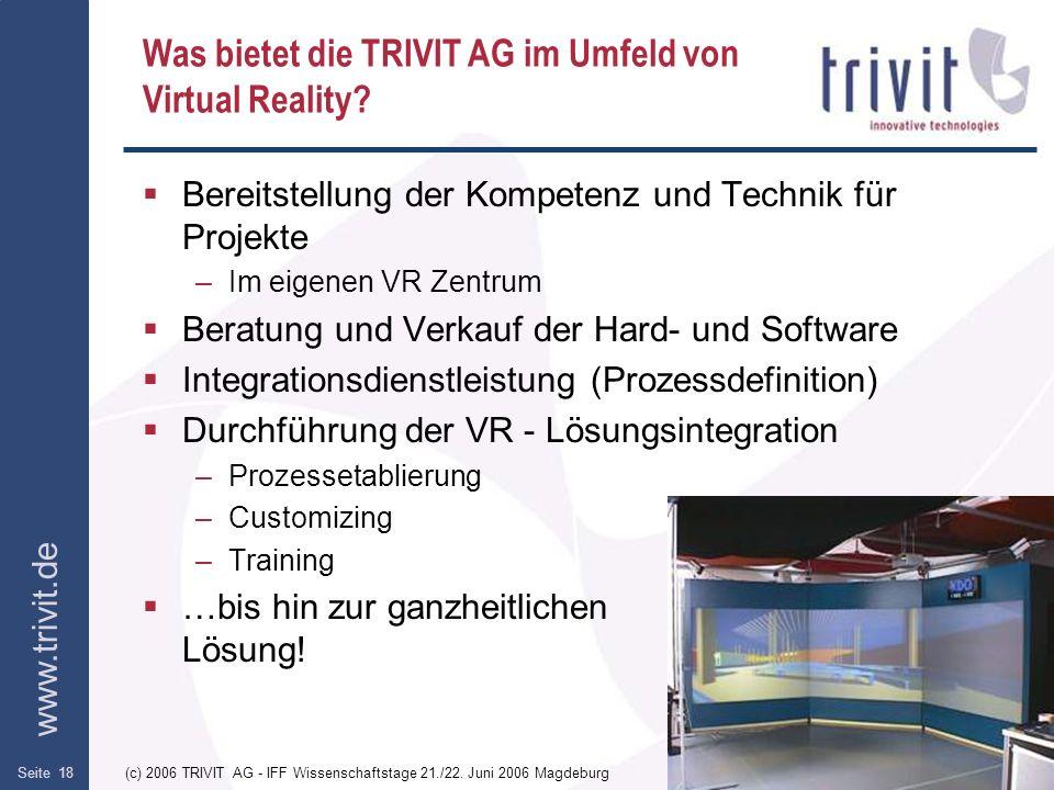Was bietet die TRIVIT AG im Umfeld von Virtual Reality