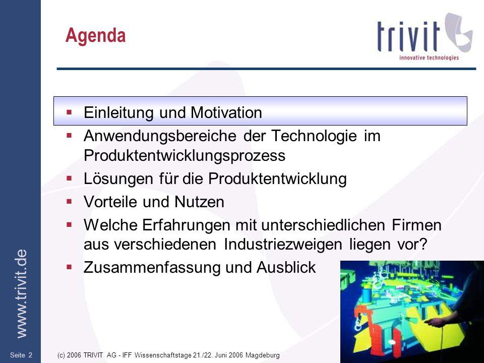 Agenda Einleitung und Motivation