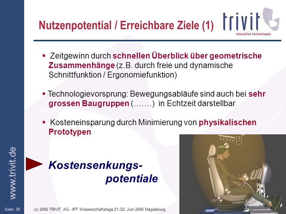 Nutzenpotential / Erreichbare Ziele (1)