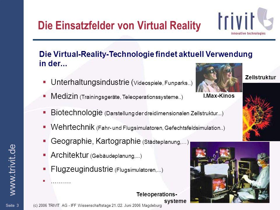 Die Einsatzfelder von Virtual Reality