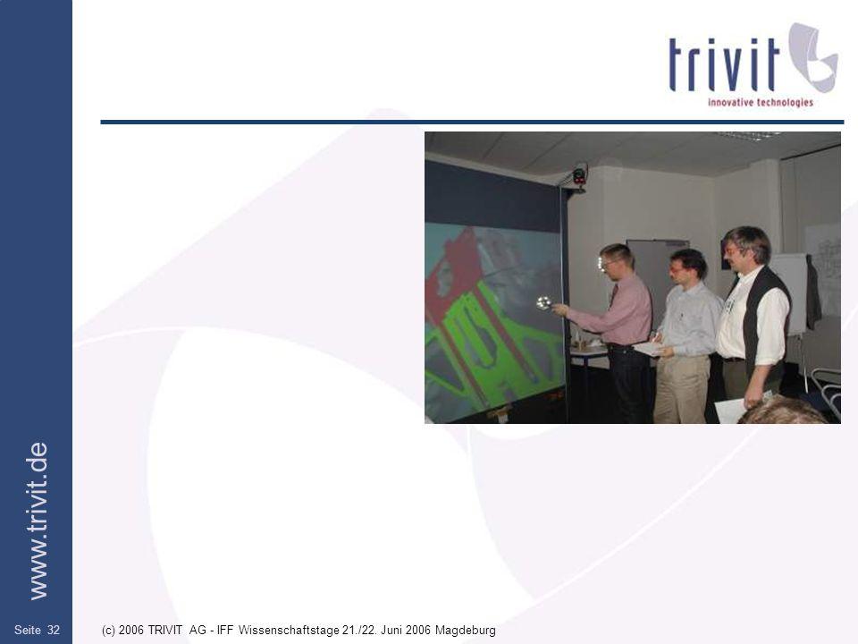 (c) 2006 TRIVIT AG - IFF Wissenschaftstage 21./22. Juni 2006 Magdeburg