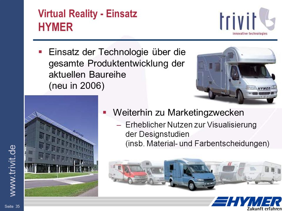 Virtual Reality - Einsatz HYMER