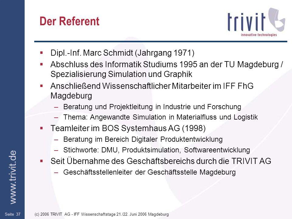 Der Referent Dipl.-Inf. Marc Schmidt (Jahrgang 1971)