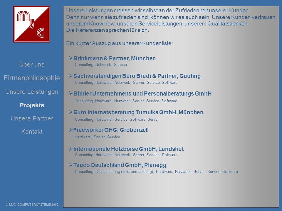 Firmenphilosophie Brinkmann & Partner, München Über uns
