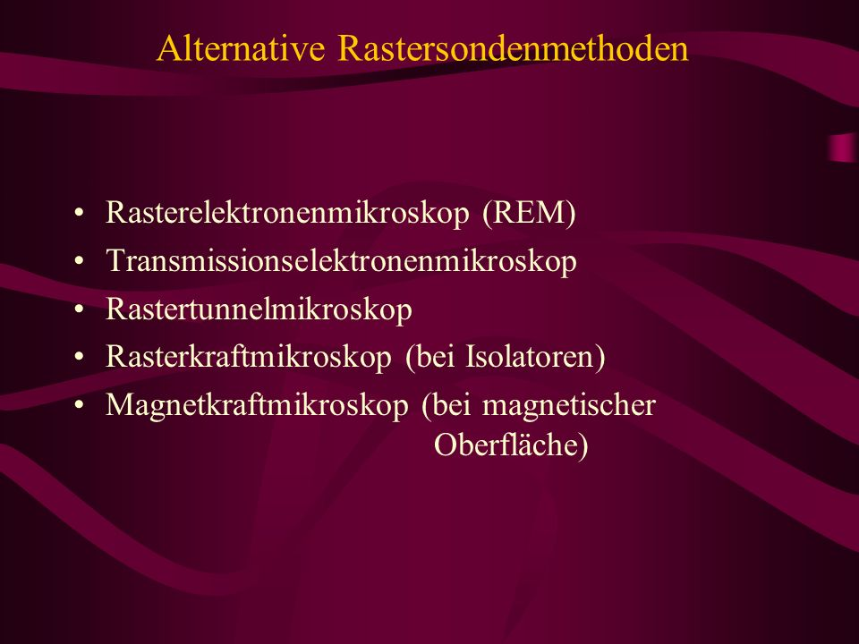 Alternative Rastersondenmethoden