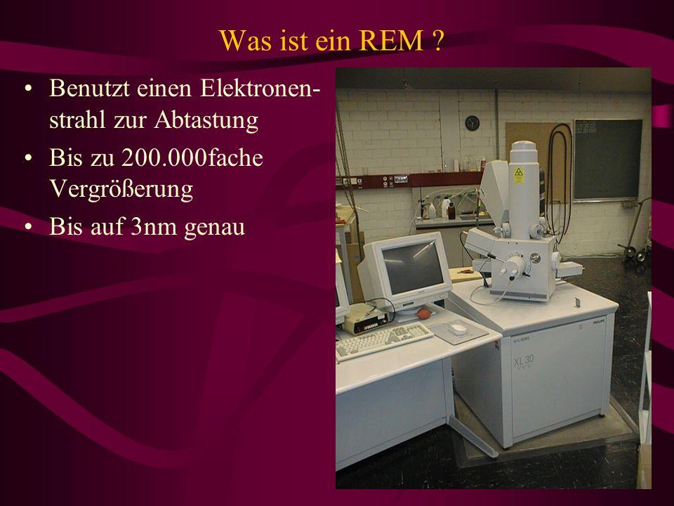 Was ist ein REM Benutzt einen Elektronen-strahl zur Abtastung