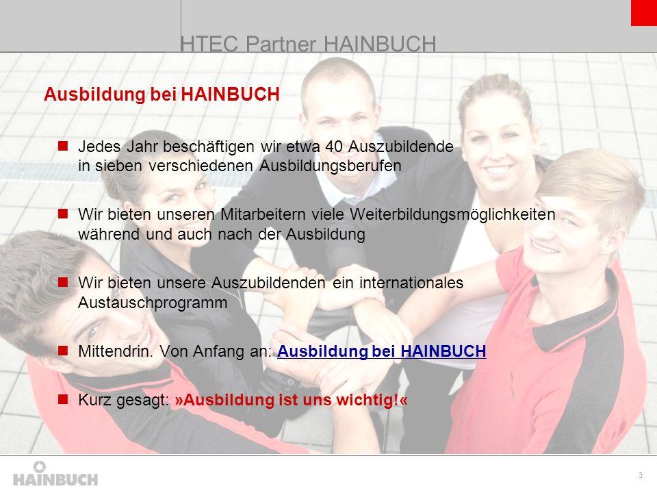 HTEC Partner HAINBUCH Ausbildung bei HAINBUCH