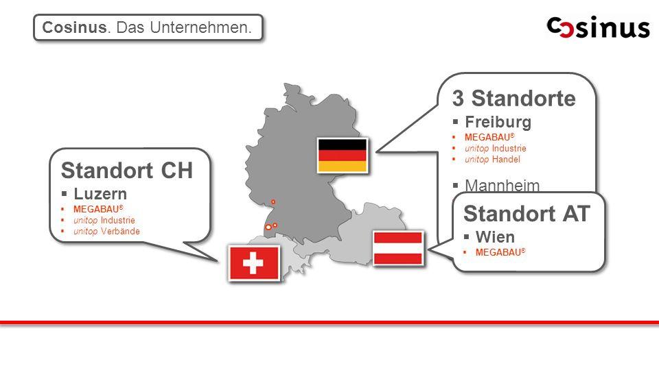 3 Standorte Standort CH Standort AT Cosinus. Das Unternehmen. Freiburg