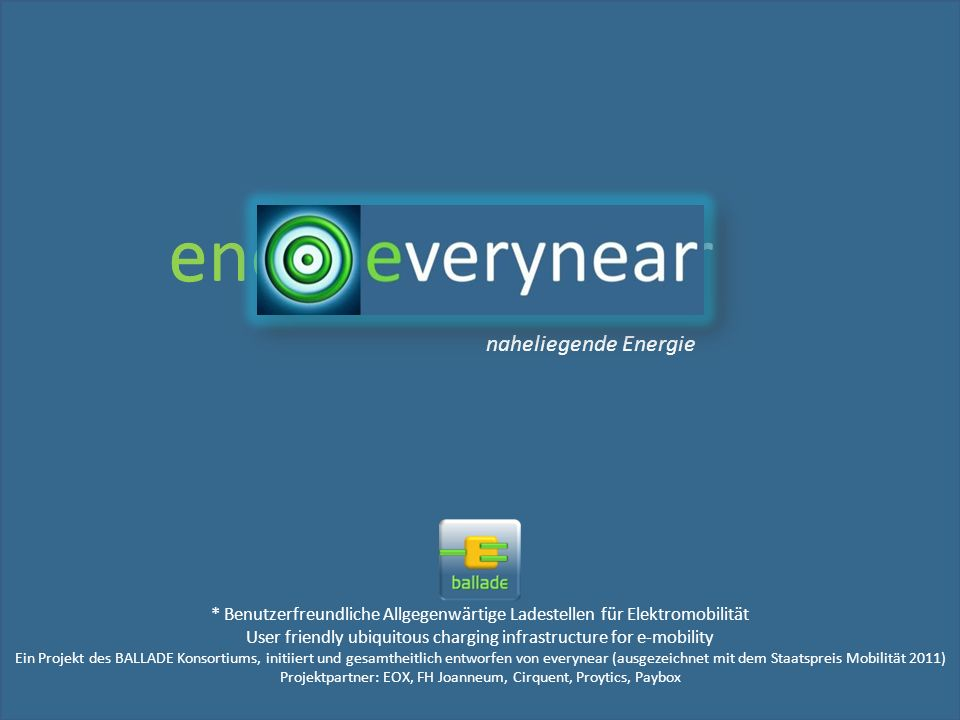 e energy very near verynear naheliegende Energie