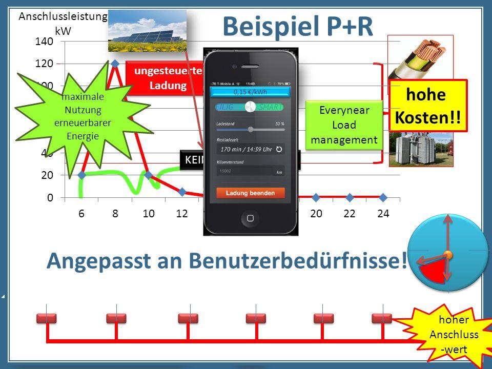 Beispiel P+R Angepasst an Benutzerbedürfnisse! hohe Kosten!!