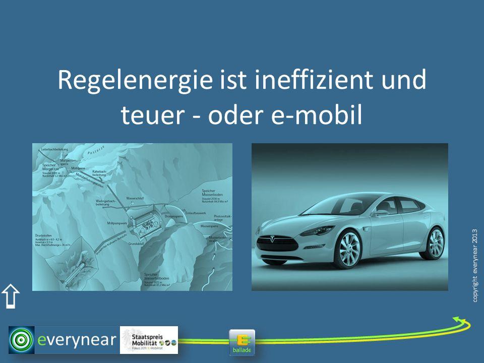 Regelenergie ist ineffizient und teuer - oder e-mobil