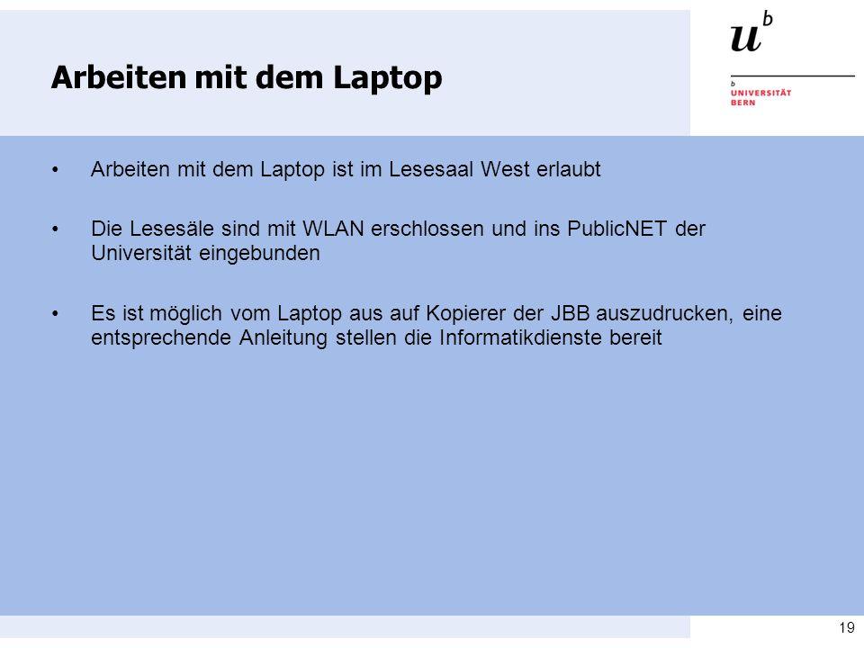 Arbeiten mit dem Laptop
